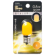 LEDナツメ球装飾用 T20/E17/0.8W/30lm/黄色 [品番]06-4627