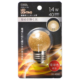 LEDミニボール球装飾用 G40/E26/1.4W/40lm/金(電球)色 [品番]06-4680