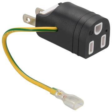 接地アダプターフリープラグ 変換用 アース端子カバー付き [品番]00-5097