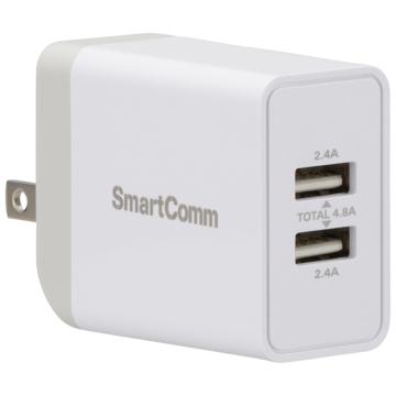 SmartComm USBチャージャー TypeA 2ポート [品番]03-3080