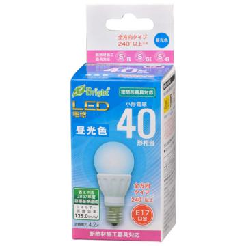 LED電球 小形 E17 40形相当 昼光色 [品番]06-4334
