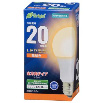 LED電球 E26 20形相当 電球色 [品番]06-4337