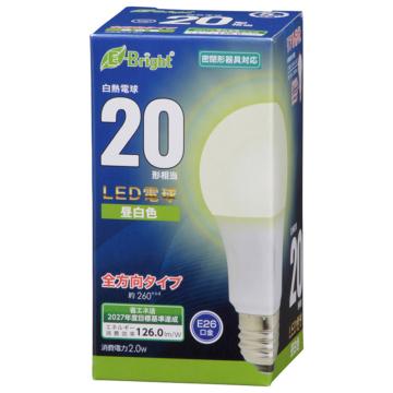 LED電球 E26 20形相当 昼白色 [品番]06-4338