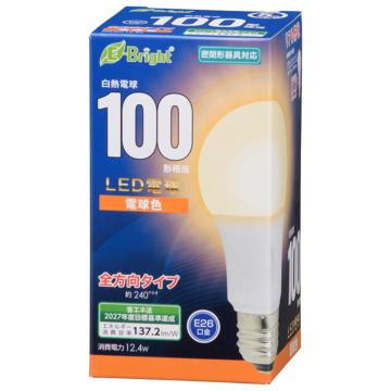 LED電球 E26 100形相当 電球色 [品番]06-4346