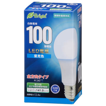 LED電球 E26 100形相当 昼光色 [品番]06-4348