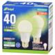 LED電球 E26 40形相当 昼白色 2個入 [品番]06-4350