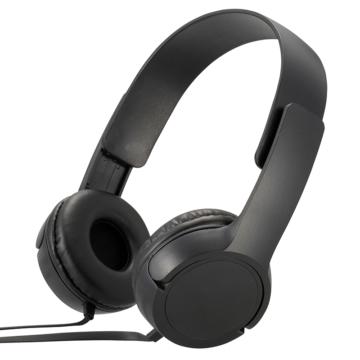 AudioComm ステレオヘッドホンH125 ブラック [品番]03-2281