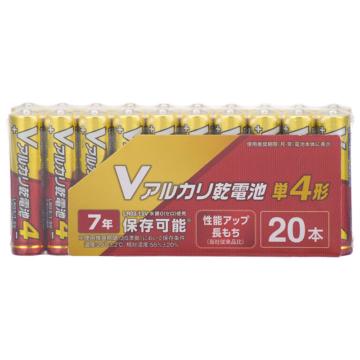 Vアルカリ乾電池 単4形 20本パック [品番]08-4038