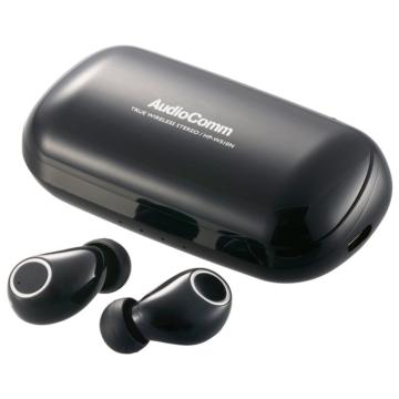 AudioComm 完全ワイヤレスイヤホン ブラック [品番]03-2286
