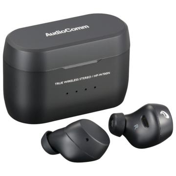 AudioComm 完全ワイヤレスイヤホン ブラック [品番]03-2296