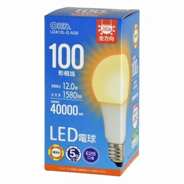 LED電球 E26 100形相当 電球色 [品番]06-3675
