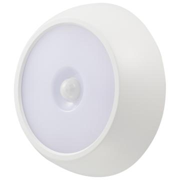 LEDセンサーライト 明暗+人感 200lm 屋内/屋外兼用 [品番]06-4108