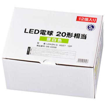 LED電球 E26 20形相当 昼白色 12個入り [品番]06-4356