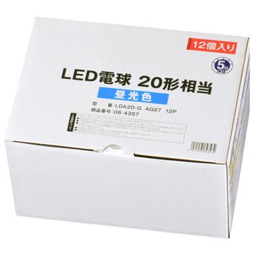 LED電球 E26 20形相当 昼光色 12個入り [品番]06-4357