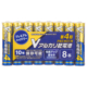 Vアルカリ乾電池 ハイパワータイプ 単4形 8本パック [品番]08-4028