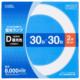 丸形蛍光ランプ 30形+30形 3波長形昼光色 2本セット [品番]06-4523