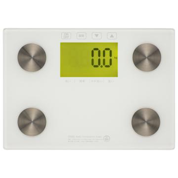 体重体組成計 バックライト付 ホワイト [品番]08-3907
