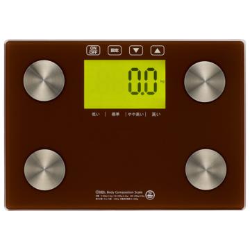 体重体組成計 バックライト付 ブラウン [品番]08-3908