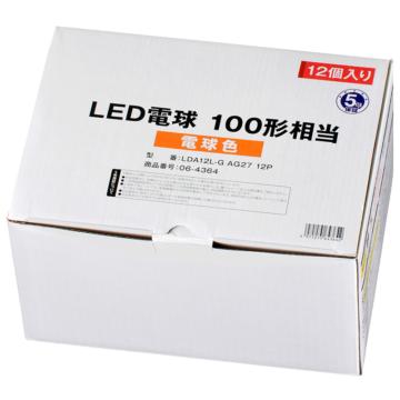 LED電球 E26 100形相当 電球色 12個入り [品番]06-4364