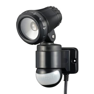 リモコン付LEDセンサーライト 光ズームレンズ 1灯 コンセント式 [品番]07-8895