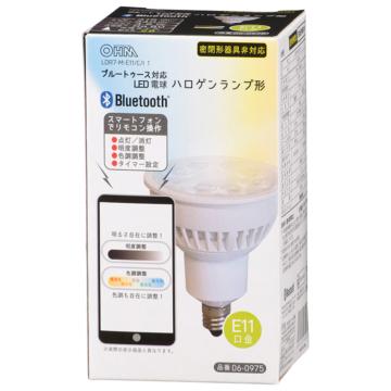 LED電球 ハロゲンランプ形 Bluetooth対応 E11 中角 調色タイプ [品番]06-0975
