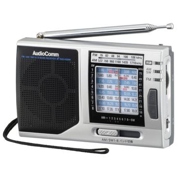 AudioComm ポータブルたんぱラジオ [品番]03-1274