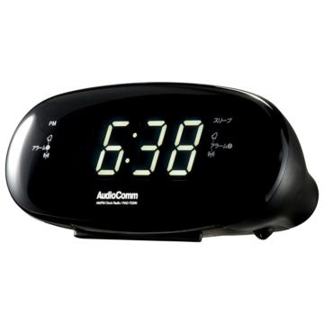 AudioComm AM/FMクロックラジオ [品番]03-7222