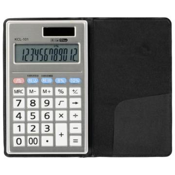 ハンディー型電卓 税率切り替え 手帳タイプ 12桁 [品番]07-8828
