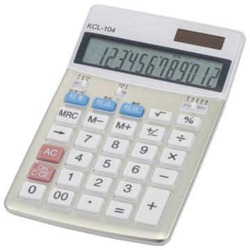 中縦型電卓 税率切り替え 12桁 [品番]07-8831