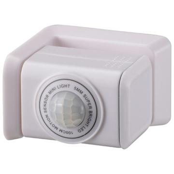 monban センサーミニライト 回転タイプ 白色LED ホワイト [品番]06-4282