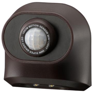 monban センサーミニライト 電球色LED ブラウン [品番]06-4286