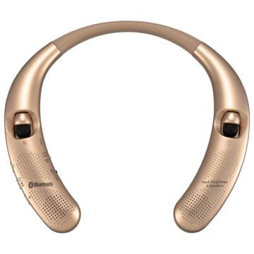 AudioComm Bluetoothネックイヤホン&スピーカー ゴールド [品番]03-0996