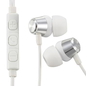 AudioComm スマホ対応ステレオインナーホン シルバー [品番]03-2481