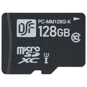 マイクロSDメモリーカード 128GB 高速データ転送 [品番]01-0758