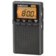 AudioCommイヤホン巻取り液晶ポケットラジオ ブラック [品番]03-0966