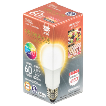 LED電球 E26 60形相当 電球色 [品番]06-3861