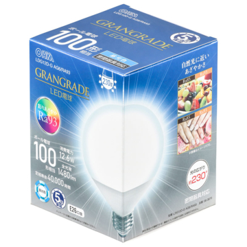 LED電球 ボール電球形 E26 100形相当 昼光色 [品番]06-3870