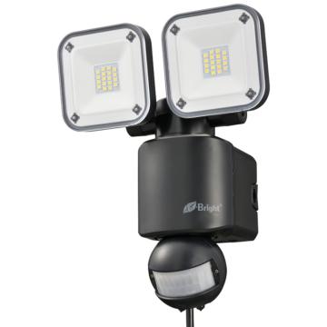 E-Bright LEDセンサーライト コンセント式 2灯 [品番]06-4243