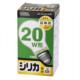 白熱電球 E26 20W形 シリカ 長寿命 [品番]06-0594