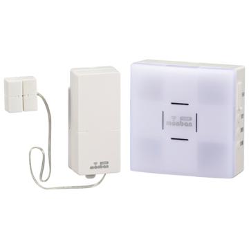 monban CUBE 扉センサー送信機+光フラッシュ電池式受信機 [品番]08-0525