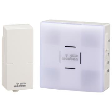 monban CUBE 音センサー送信機+光フラッシュ電池式受信機 [品番]08-0526