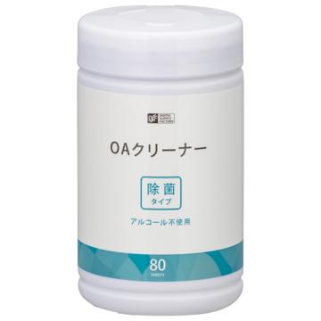 OAクリーナー除菌タイプ アルコール不使用 80枚入 [品番]01-0039