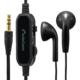 AudioCommステレオイヤホン インナー型 音量コントローラー付 3m [品番]03-1657