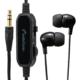 AudioCommステレオイヤホン 耳栓型 音量コントローラー付 3m [品番]03-1658