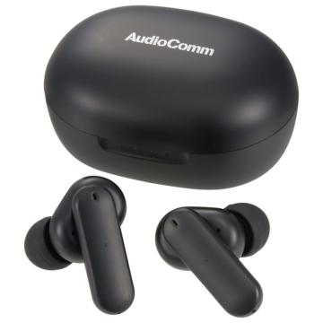 AudioComm ANC完全ワイヤレスイヤホン ブラック [品番]03-2297