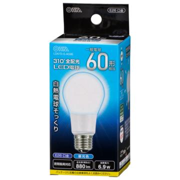 LED電球 E26 60形相当 昼光色 [品番]06-3760
