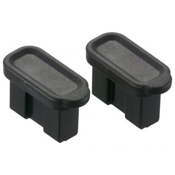USBポートカバー ブラック 2個入 [品番]00-5390