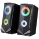 AudioComm USB電源スピーカー LEDイルミネーション機能付き [品番]03-0783