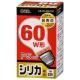 白熱電球 E26 60W形 シリカ 長寿命 [品番]06-0598