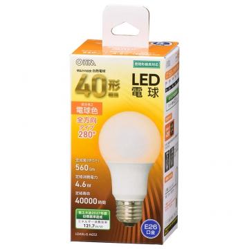 LED電球 E26 40形相当 電球色 [品番]06-4454